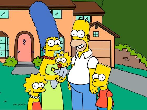 Simpsons family portrait