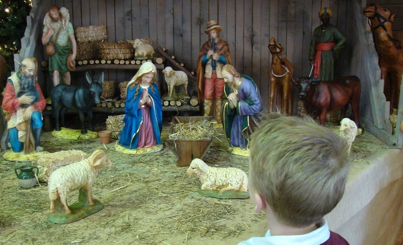 Boy and nativity